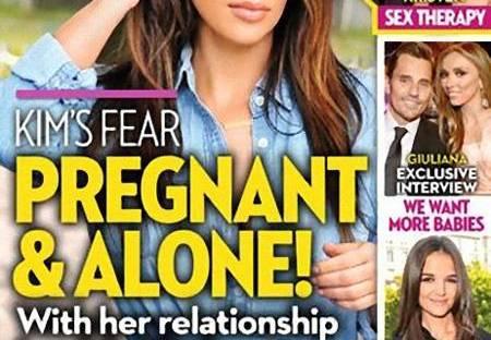ok Magazine Kim Kardashian Pregnant Kim Kardashian Pregnant