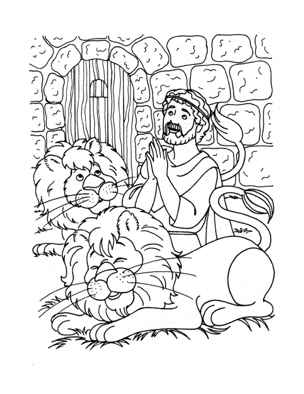 Here's a Daniel and the lion's den coloring sheet. Enjoy! :D
